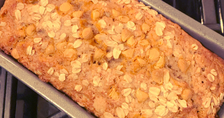 Applesauce Oatmeal Bread with Butterscotch Chips